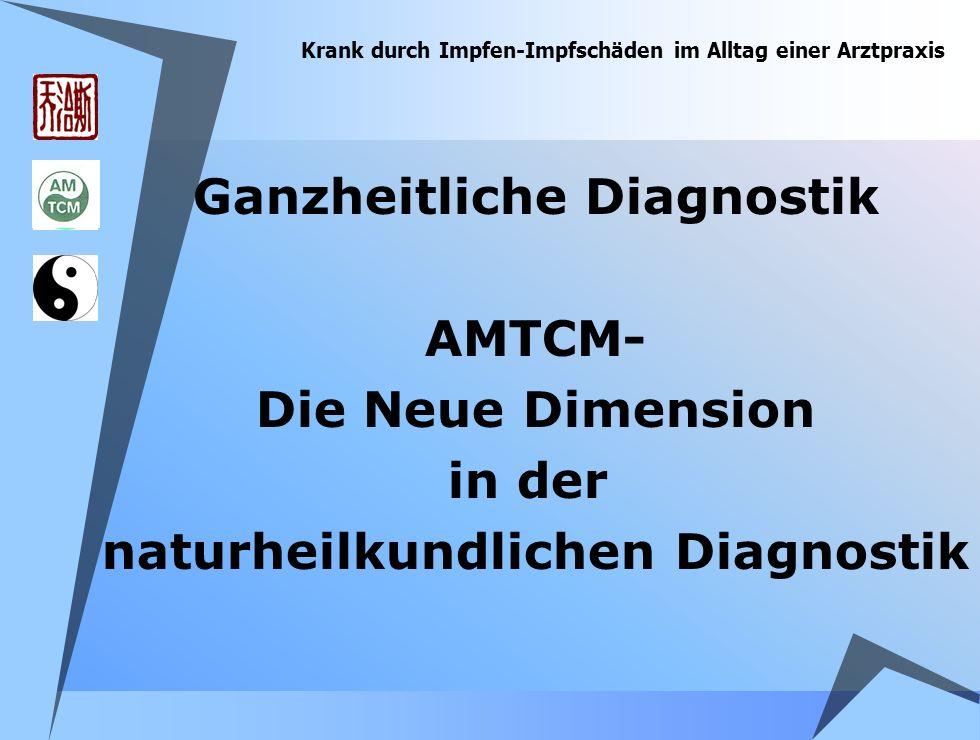 Krank durch Impfen-Impfschäden im Alltag einer Arztpraxis Ganzheitliche Diagnostik AMTCM- Die Neue Dimension in der naturheilkundlichen Diagnostik