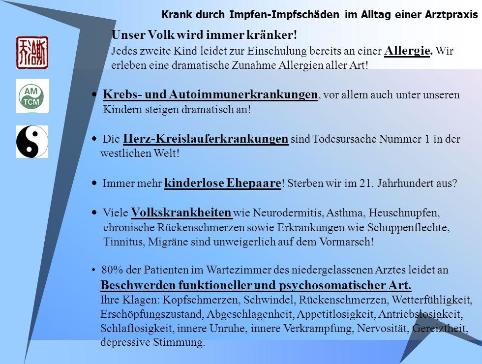 Vorbeugen und Schützen kann nur heißen: ã Schützen und Stärken der Disposition/Konstitution ã Verhinderung von Leitbahnblockaden: - Vermeidung von Strahlungsbelastungen - Amalgamverbot - Verzicht auf Impfungen