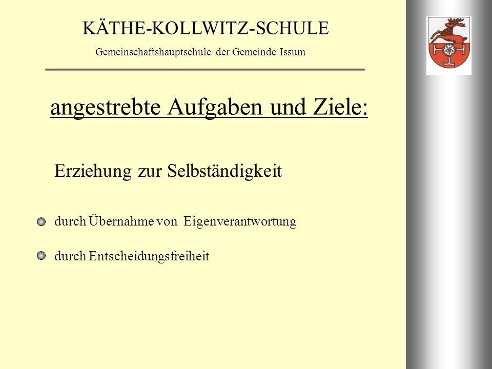 KÄTHE-KOLLWITZ-SCHULE Gemeinschaftshauptschule der Gemeinde Issum ErprobungsjahrgangstufenErprobungsjahrgangstufen 5a5b Klassen 5 6a6b Klassen 6