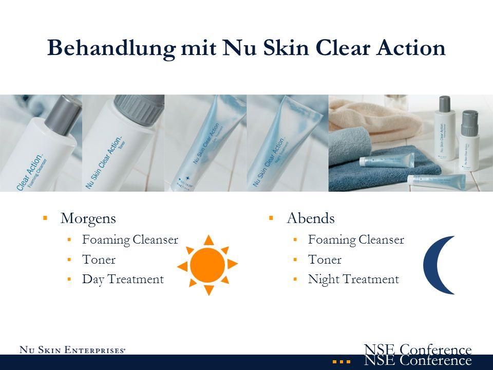 NSE Conference Nu Skin Clear Action Foaming Cleanser einzigartige Formulierung mit sanftem Schaum Wirksamkeit durch winzige Bläschen extrem mildes Reinigungsprodukt