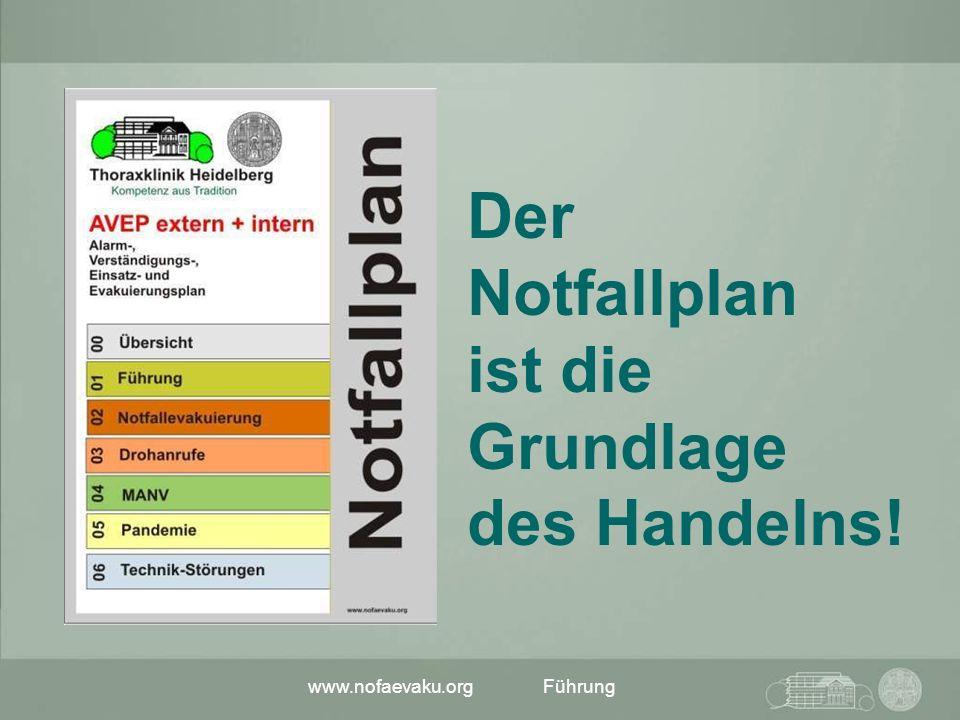 www.nofaevaku.orgFührung Der Notfallplan ist die Grundlage des Handelns!