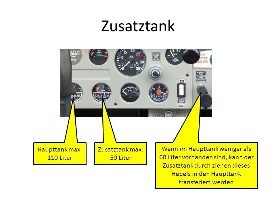 Zusatztank Zusatztank max.50 Liter Haupttank max.