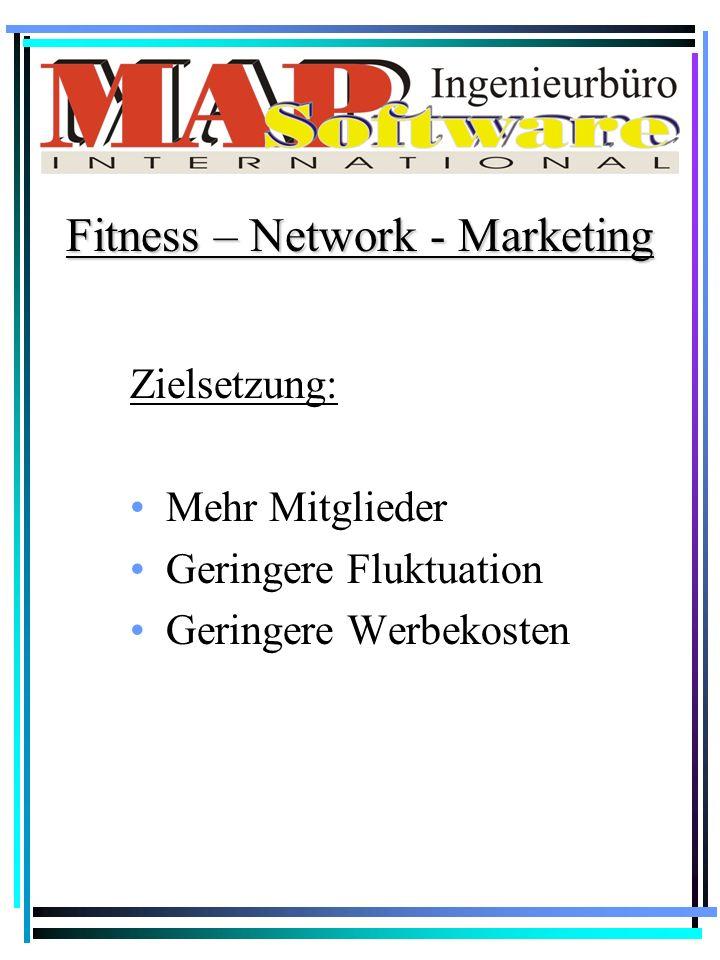 Zielsetzung: Mehr Mitglieder Geringere Fluktuation Geringere Werbekosten Fitness – Network - Marketing