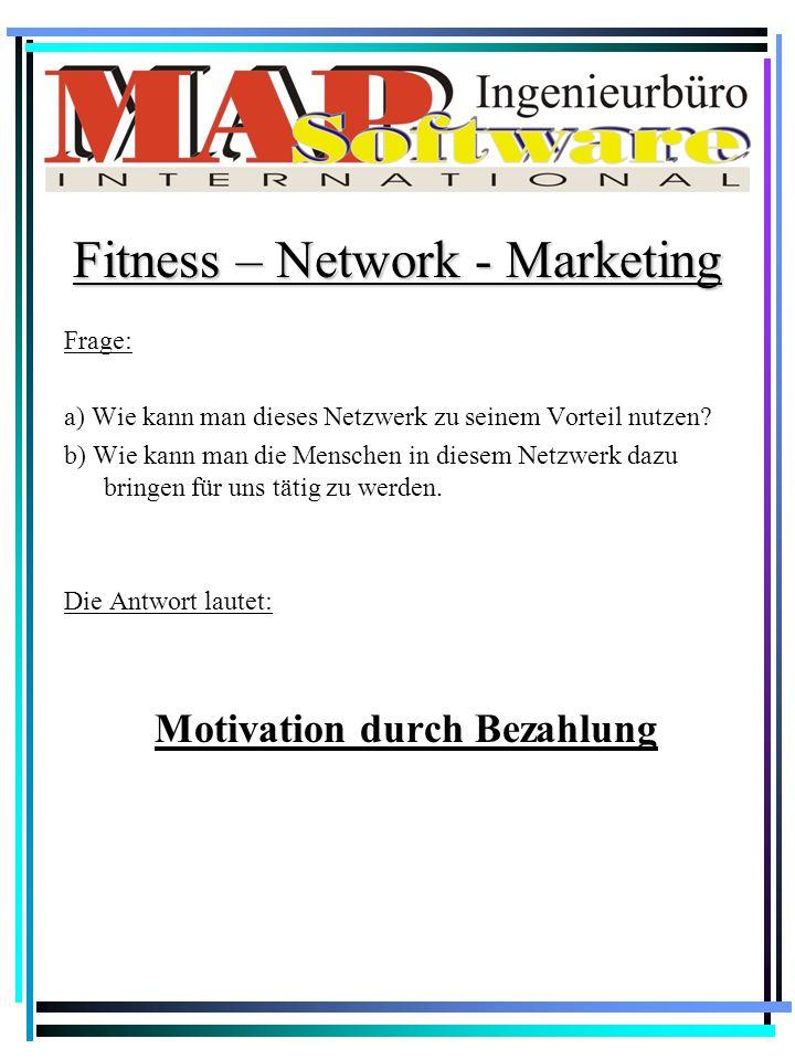 Ein Netzwerk aus Menschen. Fitness – Network - Marketing Zum Beispiel: Jeder von uns kennt (nur) zwei Leute die als Mitglieder im Fitness-Center Infra