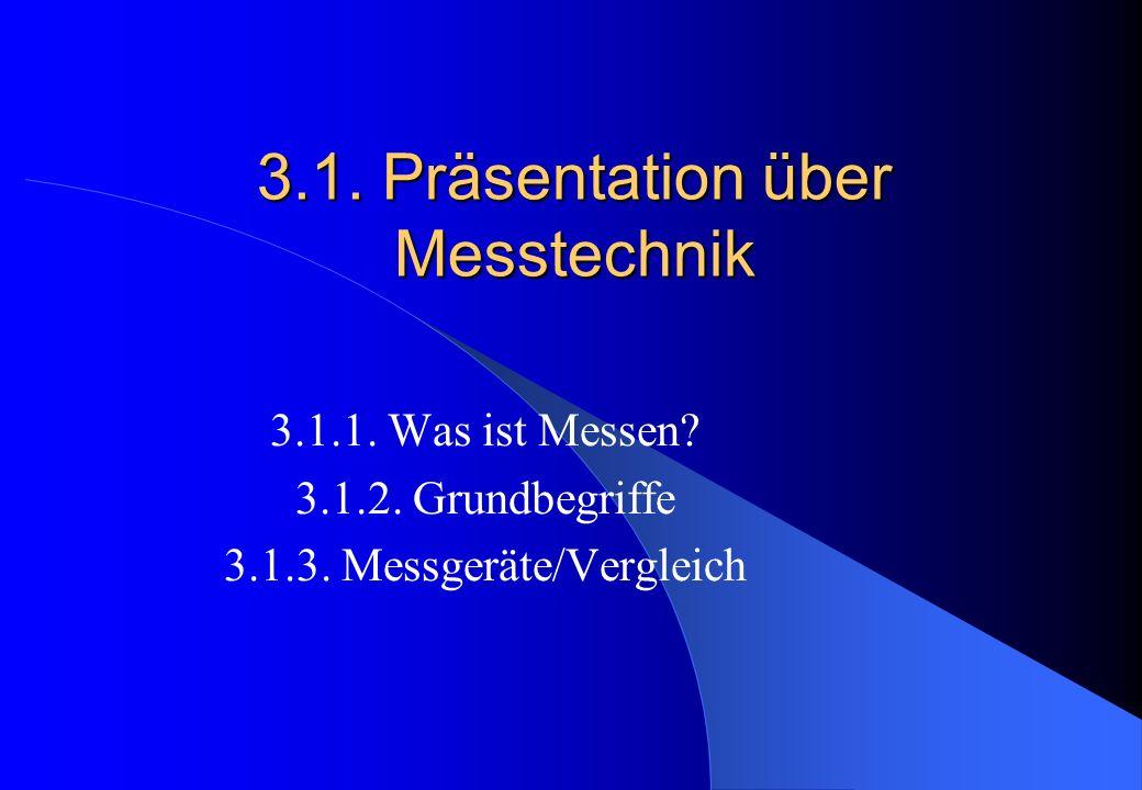 3.1.Präsentation über Messtechnik 3.1.1. Was ist Messen.