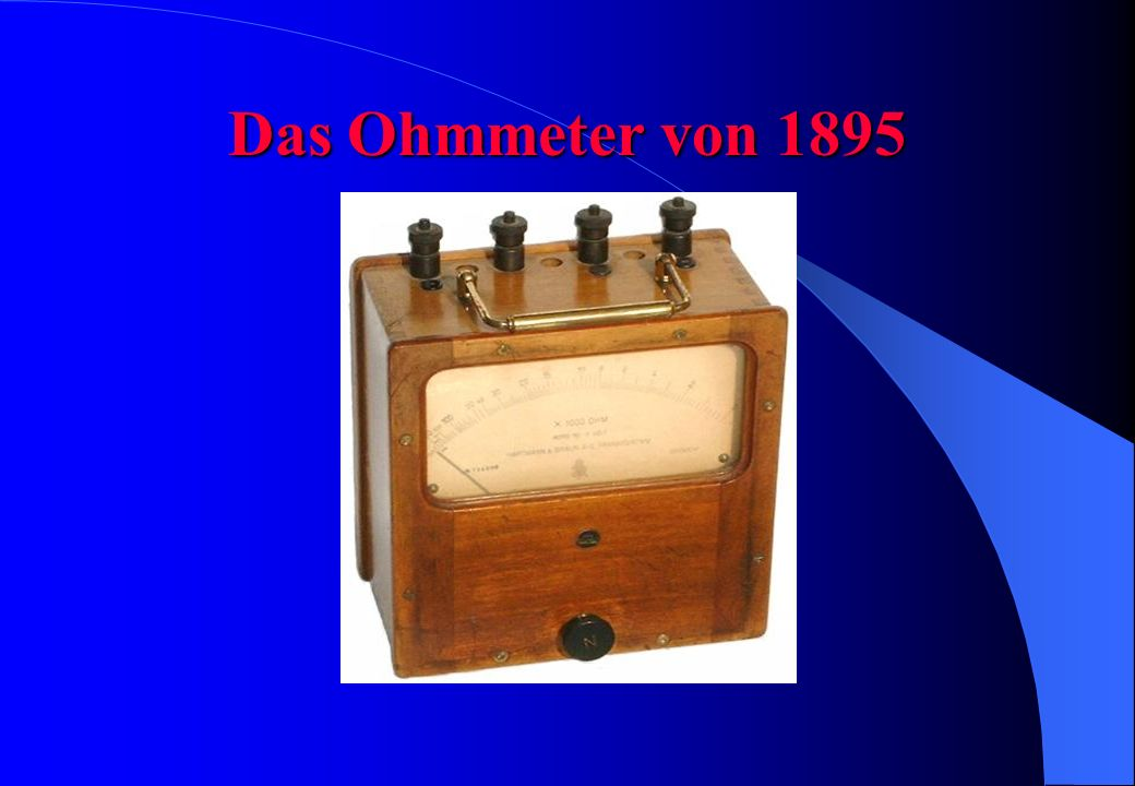 Das Ohmmesser Made in Poland