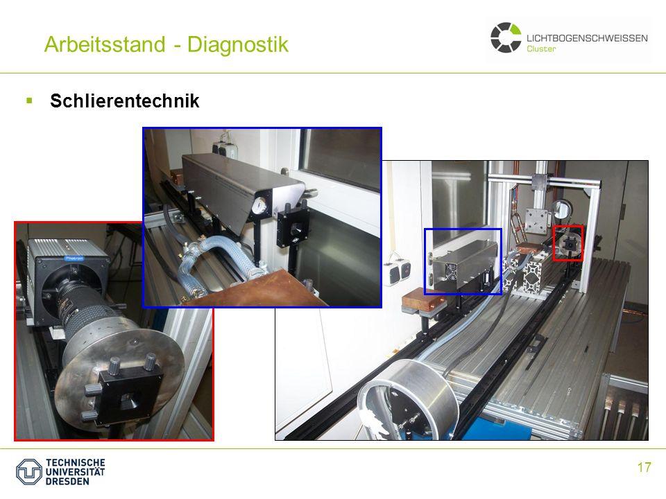 17 Arbeitsstand - Diagnostik Schlierentechnik