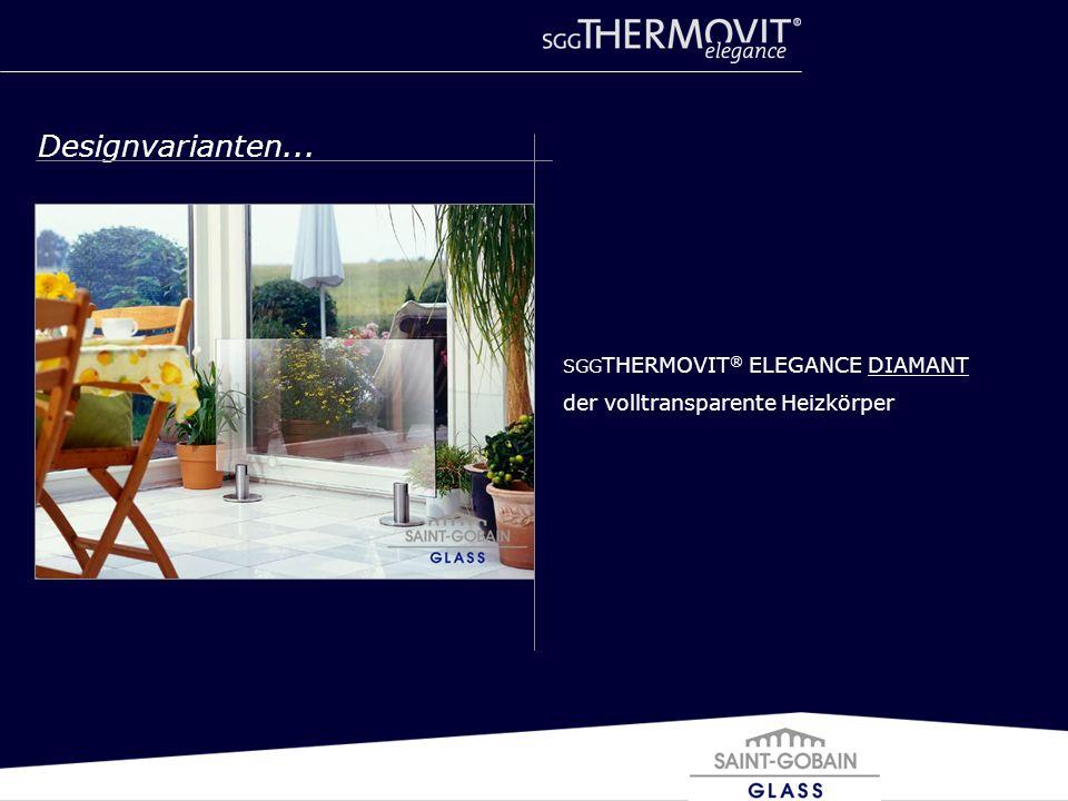 Designvarianten... SGG THERMOVIT ® ELEGANCE DIAMANT der volltransparente Heizkörper