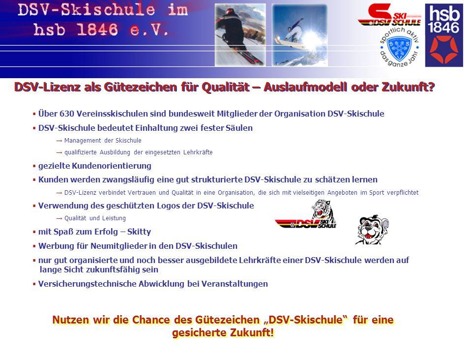 DSV-Lizenz als Gütezeichen für Qualität – Auslaufmodell oder Zukunft.