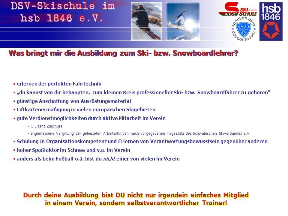 Vorteile der DSV-Skischule im hsb 1846 e.V.