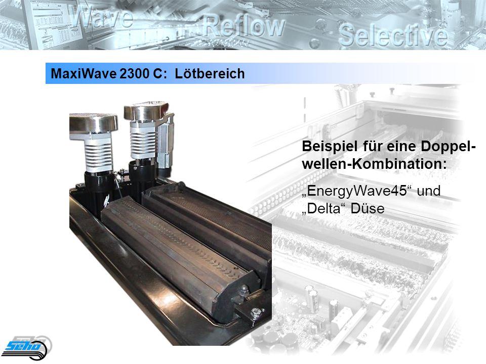 37 Beispiel für eine Doppel- wellen-Kombination: EnergyWave45 und Delta Düse MaxiWave 2300 C: Lötbereich