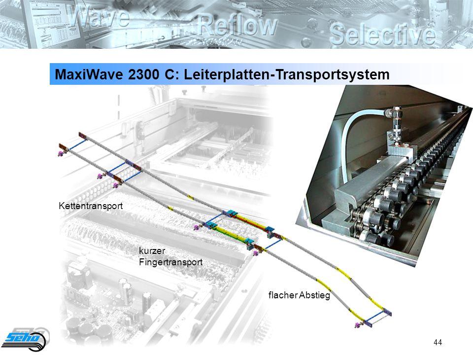 44 flacher Abstieg kurzer Fingertransport Kettentransport MaxiWave 2300 C: Leiterplatten-Transportsystem