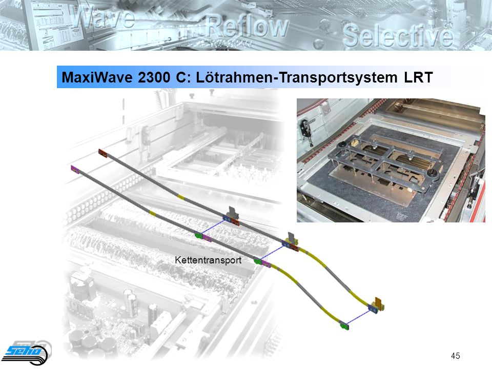 45 MaxiWave 2300 C: Lötrahmen-Transportsystem LRT Kettentransport