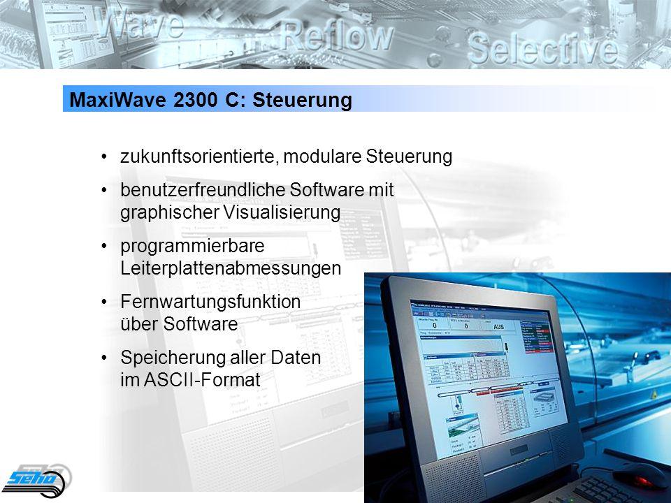 48 MaxiWave 2300 C: Steuerung zukunftsorientierte, modulare Steuerung benutzerfreundliche Software mit graphischer Visualisierung programmierbare Leit