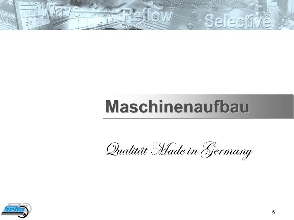 6 Qualität Made in Germany MaschinenaufbauMaschinenaufbau