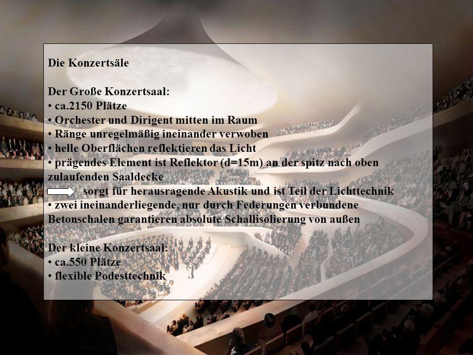 Zeitplan straffer Zeitplan europaweit ausgeschriebenes Verfahren zur Findung des Investors endete im Herbst 2006 Investorenvertrag mit Bietergemeinschaft IQ² Februar 2007 Bürgerschaft der Freien und Hansestadt Hamburg stimmte einstimmig für Bau 2.März 2007 Halbportalkräne werden demontiert und von Schwimmkran HHLA3 hochgehoben und zu 50-er Schuppen gebracht Rückbau des Speichers beginnt mit Grundsteinlegung am 2.April 2007 Fassaden mit Stahlkonstruktionen abgestützt, Entkernung sobald Nachgründungen abgeschlossen sind, wird backsteinerne Hülle innen neu aufgebaut Sommer 2008 wird Niveau des Kaispeichers wieder erreicht sein Bau soll 2010 abgeschlossen sein