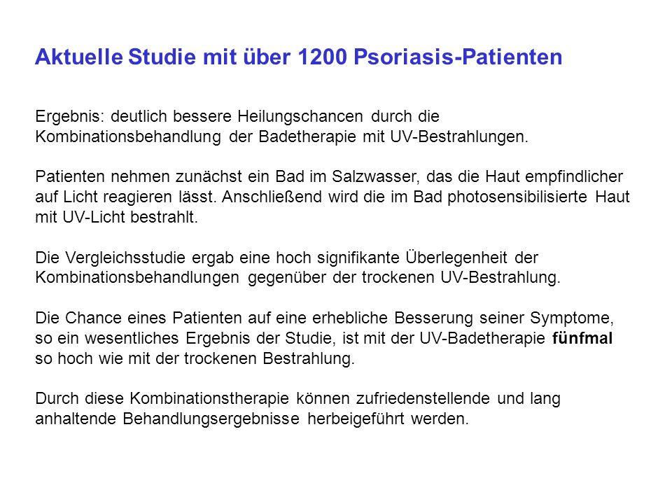 Ärzte Zeitung, 11.04.2005 Studie zeigt Überlegenheit der Balneo-Phototherapie Berufsverband Deutscher Dermatologen will nun das Qualitätsinstitut und den Bundesausschuß überzeugen, damit PUVA Kassenleistung wird BERLIN (gvg).
