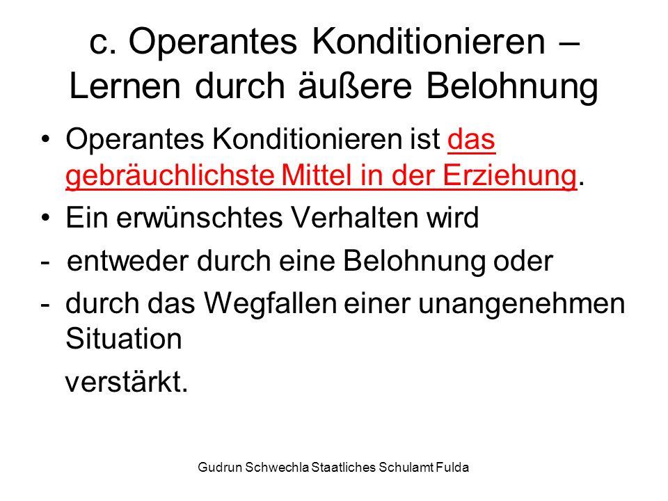 Gudrun Schwechla Staatliches Schulamt Fulda c.