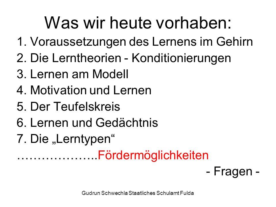 Gudrun Schwechla Staatliches Schulamt Fulda Was wir heute vorhaben: 1.