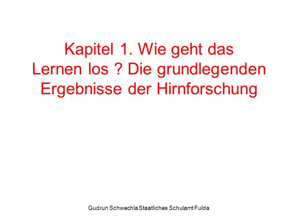 Gudrun Schwechla Staatliches Schulamt Fulda Kapitel 2. Die Lerntheorien