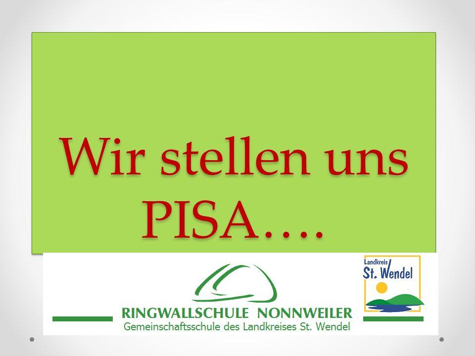 Wir stellen uns PISA…. Wir stellen uns PISA….