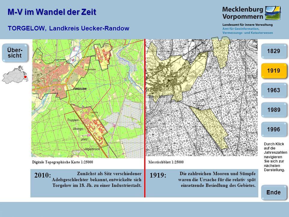 M-V im Wandel der Zeit M-V im Wandel der Zeit NEUBRANDENBURG 2007:1992: 2003 1953 1987 1992 1944 Nach der Wiedervereinigung Deutschlands behielt Neubrandenburg seinen Status als kreisfreie Stadt.