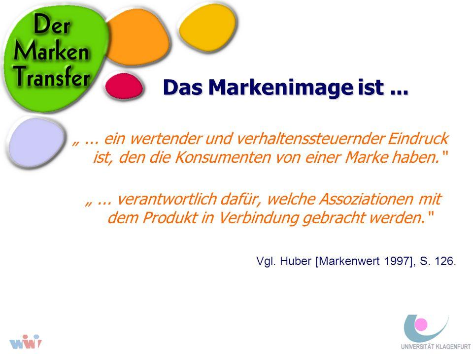 Das Markenimage ist...... ein wertender und verhaltenssteuernder Eindruck ist, den die Konsumenten von einer Marke haben.... verantwortlich dafür, wel