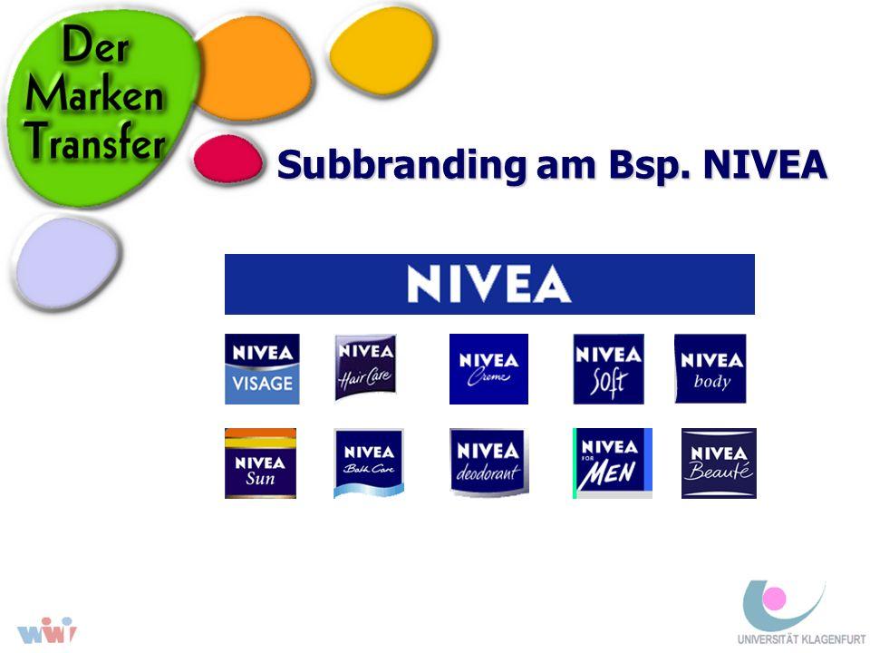 Subbranding am Bsp. NIVEA