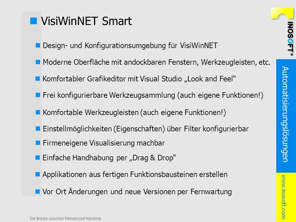 Automatisierungslösungen www.inosoft.com Die Brücke zwischen Mensch und Maschine VisiWinNET Smart Design- und Konfigurationsumgebung für VisiWinNET Fr