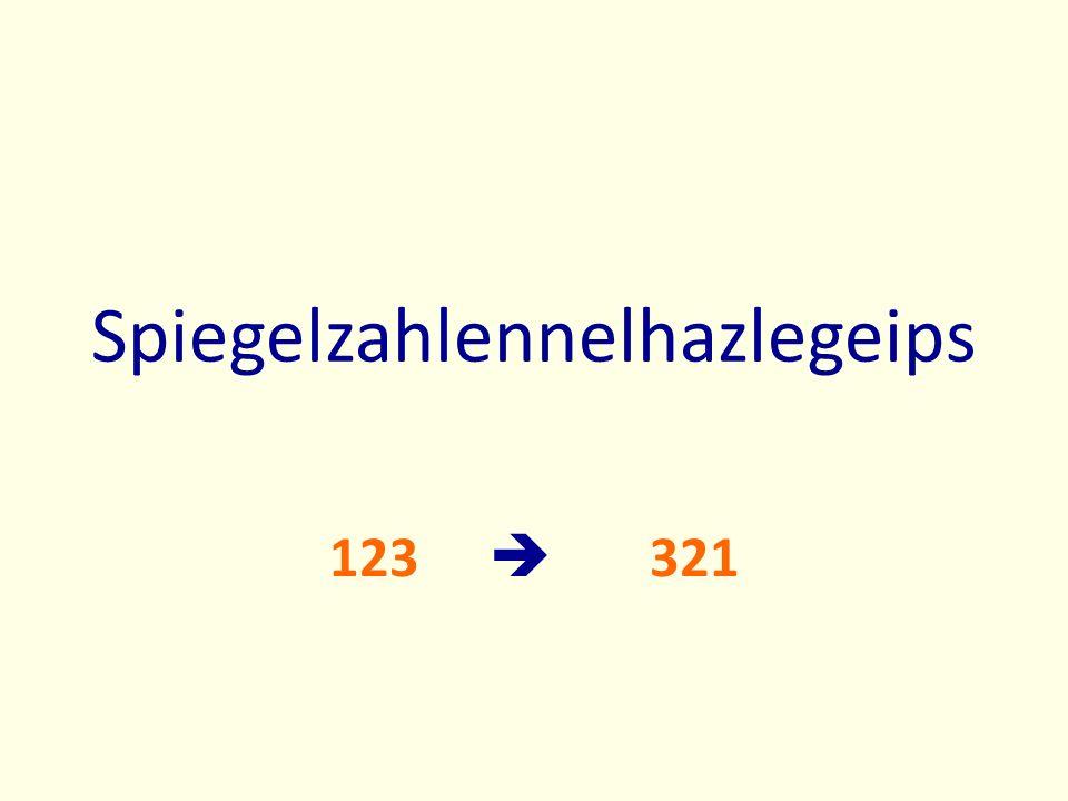 Spiegelzahlennelhazlegeips 123 321