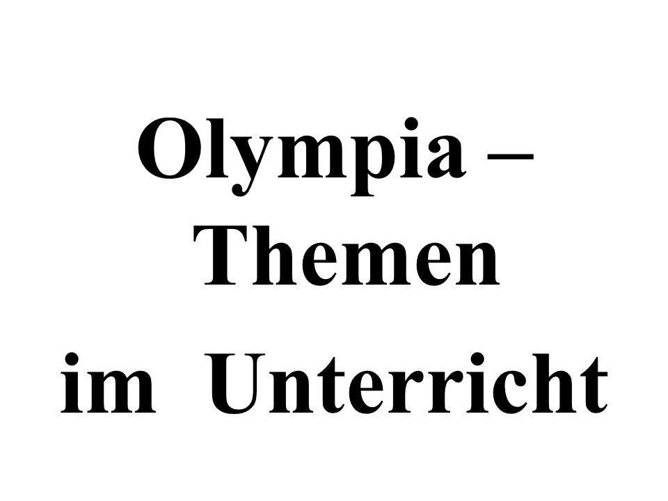 Olympia – Themen im Unterricht