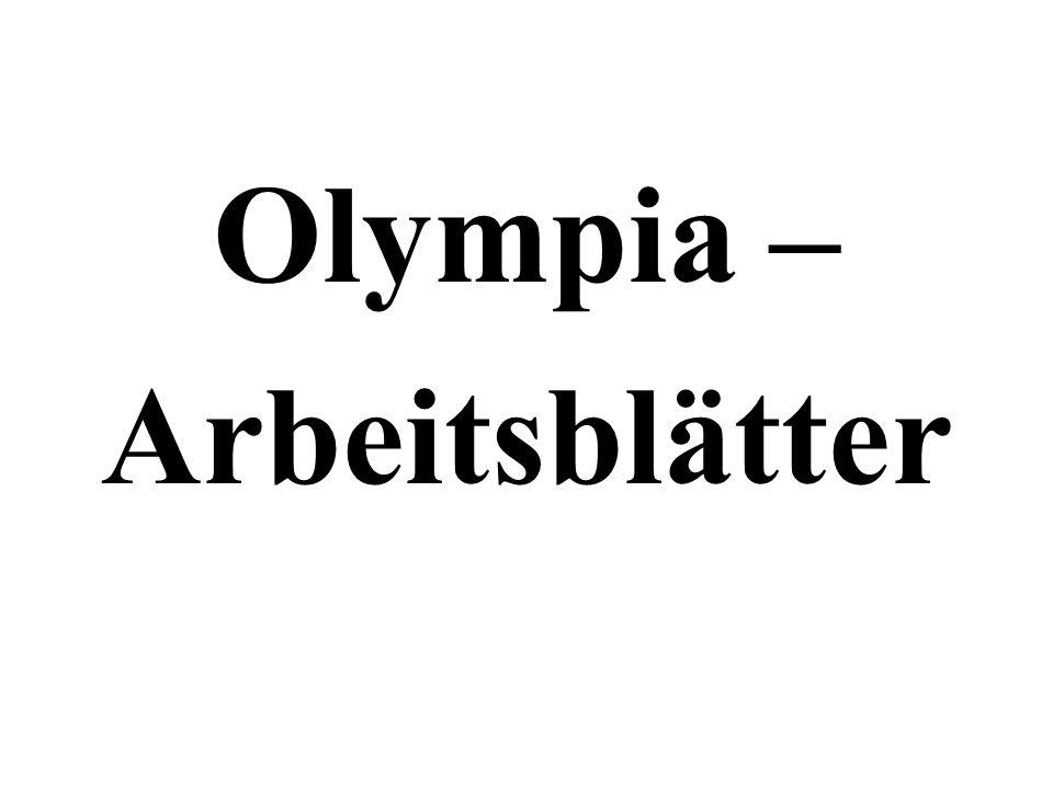 Olympia – Arbeitsblätter