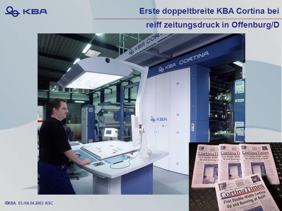 KBA 03./04.04.2003 KSC Erste doppeltbreite KBA Cortina bei reiff zeitungsdruck in Offenburg/D