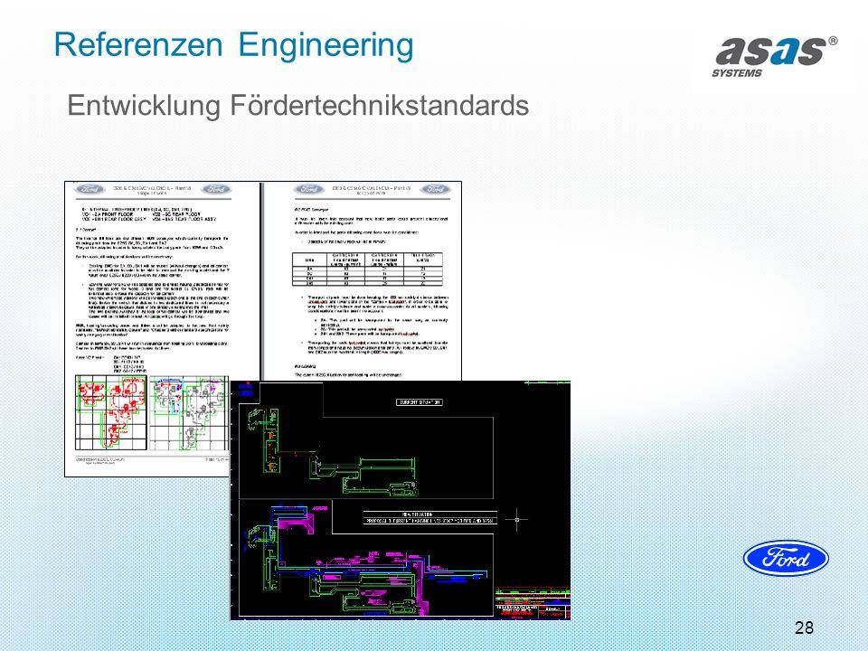 28 Referenzen Engineering Entwicklung Fördertechnikstandards