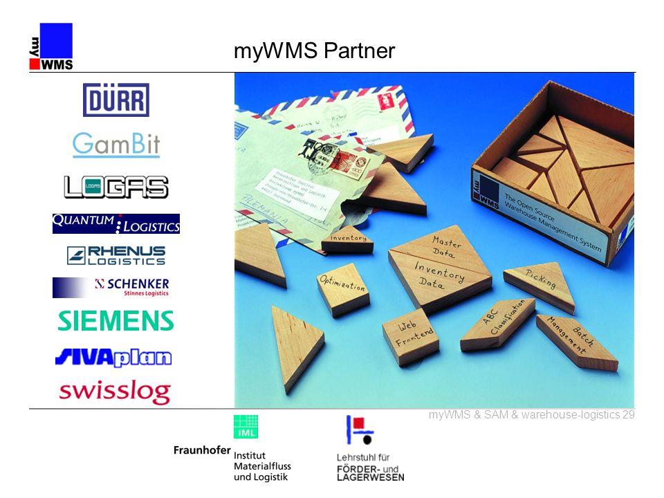 myWMS & SAM & warehouse-logistics 29 myWMS Partner