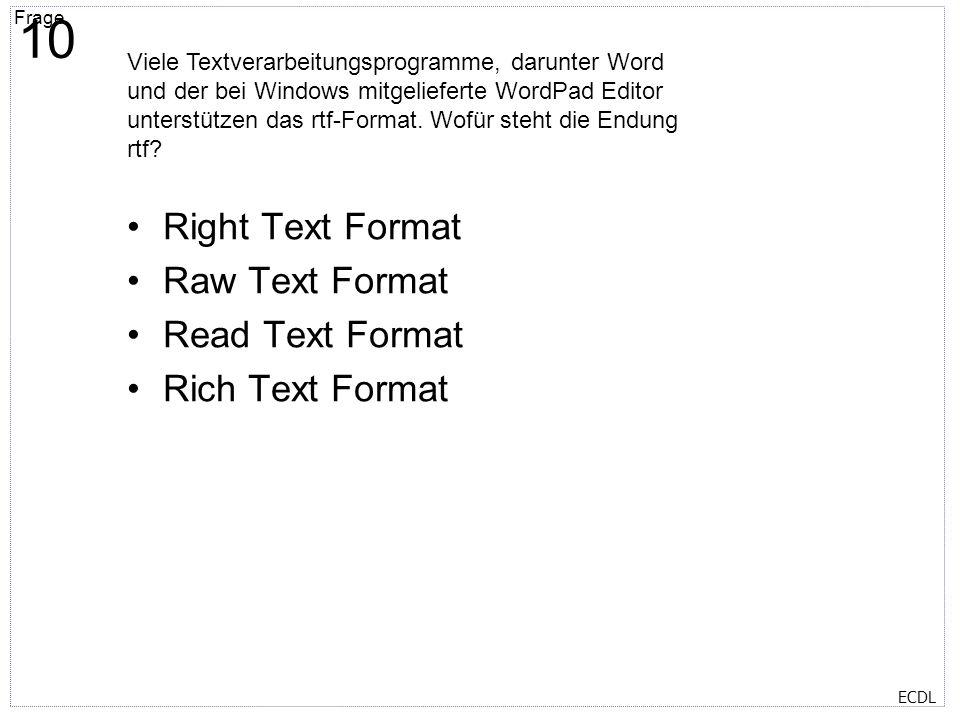 Titelmasterformat durch Klicken bearbeiten Textmasterformate durch Klicken bearbeiten Zweite Ebene Dritte Ebene Vierte Ebene Fünfte Ebene Frage 11 ECD