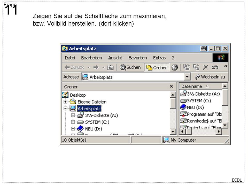 Titelmasterformat durch Klicken bearbeiten Textmasterformate durch Klicken bearbeiten Zweite Ebene Dritte Ebene Vierte Ebene Fünfte Ebene Frage 12 ECD