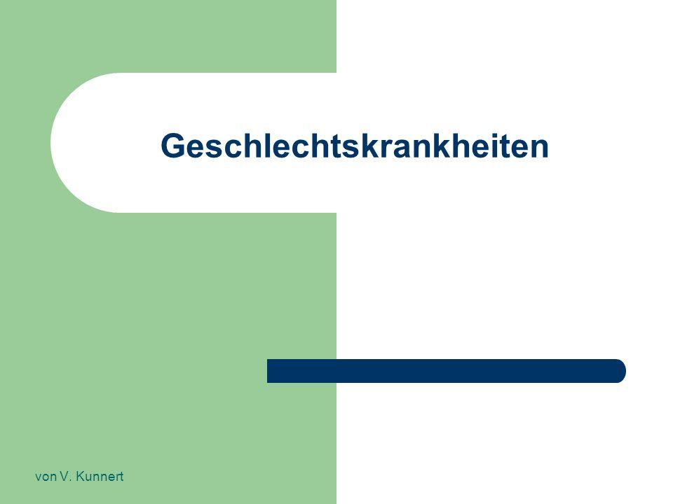 Geschlechtskrankheiten von V. Kunnert