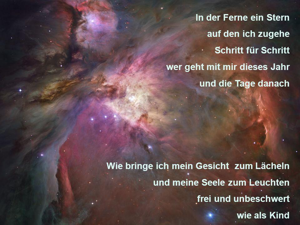 Was füllt den Raum zwischen mir und den Menschen - Luft und ein wenig Angst aber zum größten Teil nur Liebe Was füllt den Raum zwischen gestern und morgen- Taten und Worte aber zum größten Teil nur Liebe Was füllt den Raum zwischen den Sternen und der Erde nur Liebe