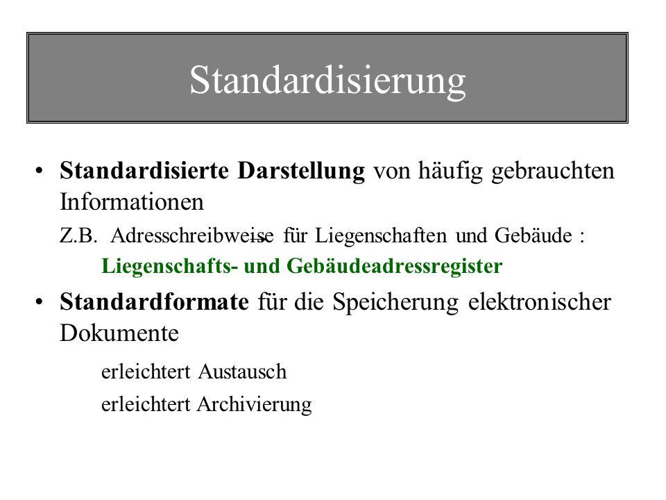 Standard-Dokumenten-Register Nur virtuelles Register: Nebenprodukt aus der Prüfung von Dokumenten, die vor der Eintragung in bestimmte Register vorgel