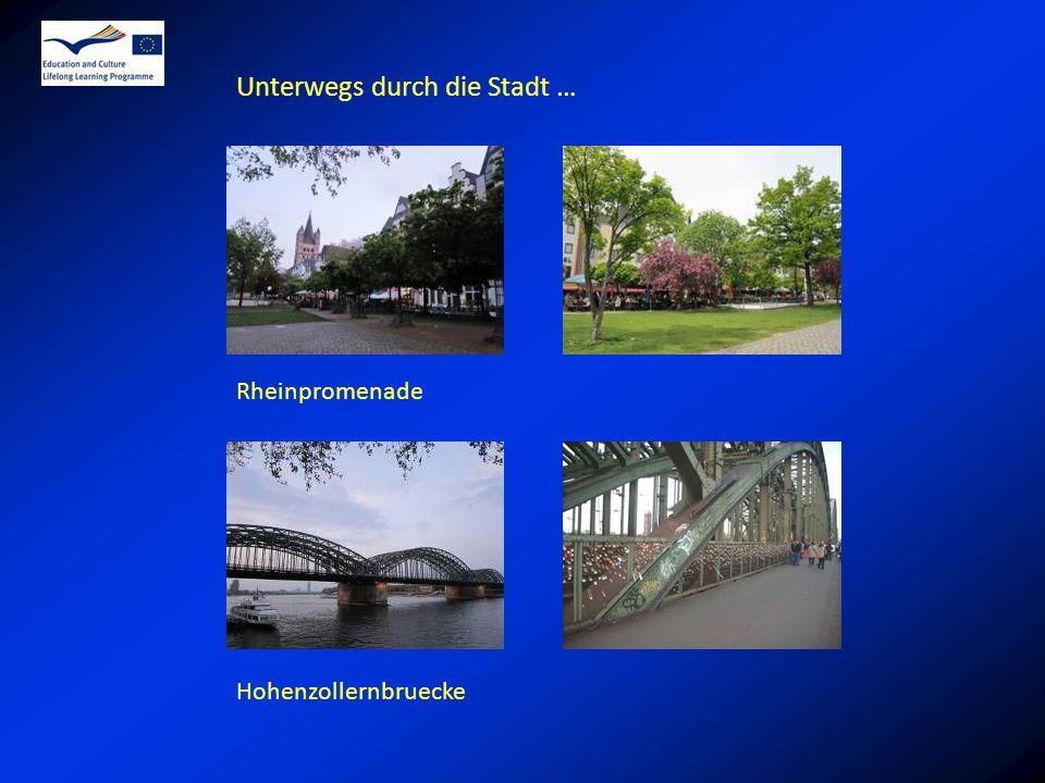 Unterwegs durch die Stadt … Rheinpromenade Hohenzollernbruecke