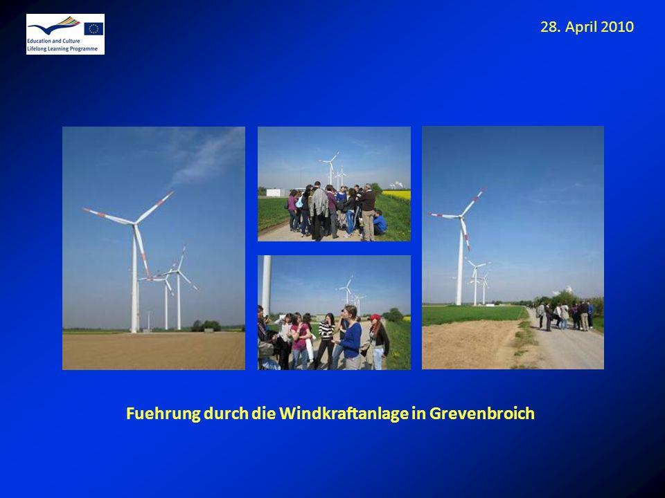 Fuehrung durch die Windkraftanlage in Grevenbroich 28. April 2010