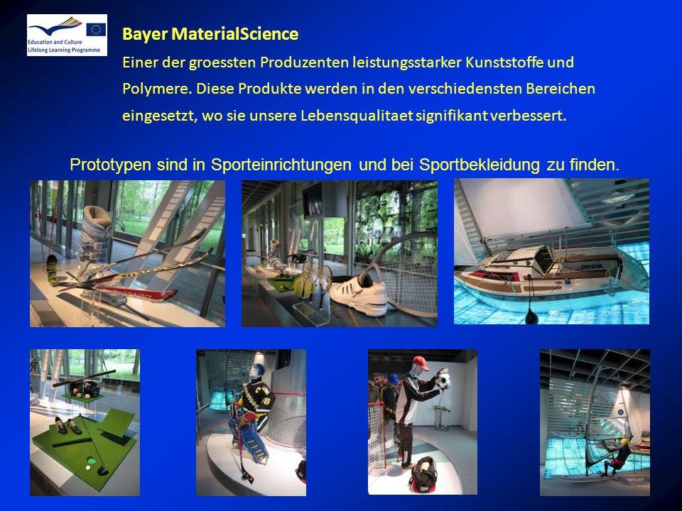 Bayer MaterialScience Einer der groessten Produzenten leistungsstarker Kunststoffe und Polymere.