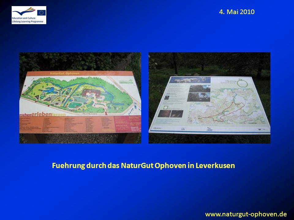 Fuehrung durch das NaturGut Ophoven in Leverkusen 4. Mai 2010 www.naturgut-ophoven.de