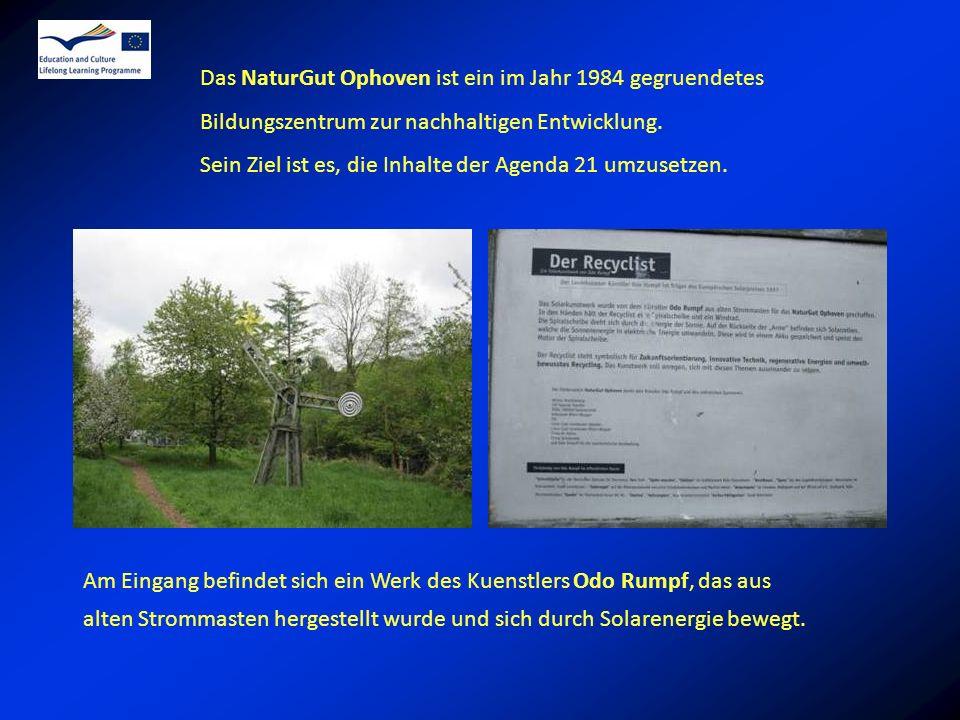 Das NaturGut Ophoven ist ein im Jahr 1984 gegruendetes Bildungszentrum zur nachhaltigen Entwicklung.