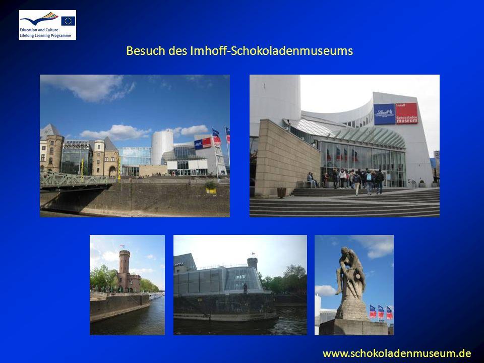 Besuch des Imhoff-Schokoladenmuseums www.schokoladenmuseum.de