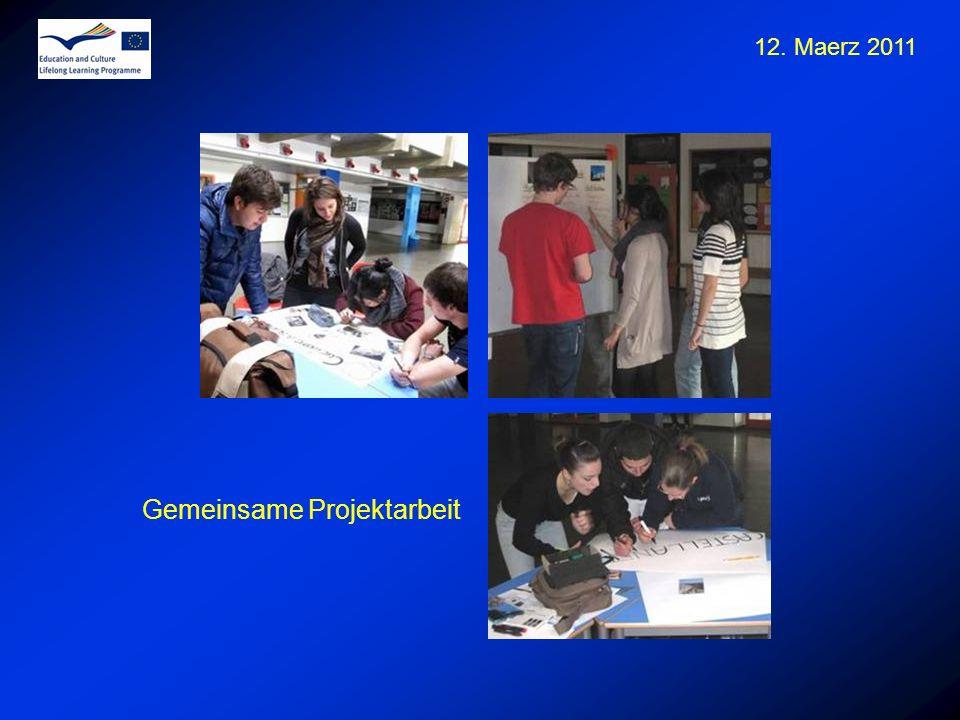12. Maerz 2011 Gemeinsame Projektarbeit