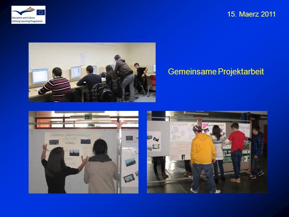 15. Maerz 2011 Gemeinsame Projektarbeit