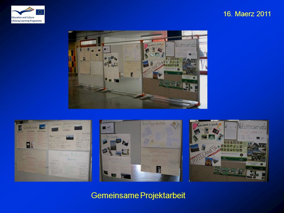 16. Maerz 2011 Gemeinsame Projektarbeit