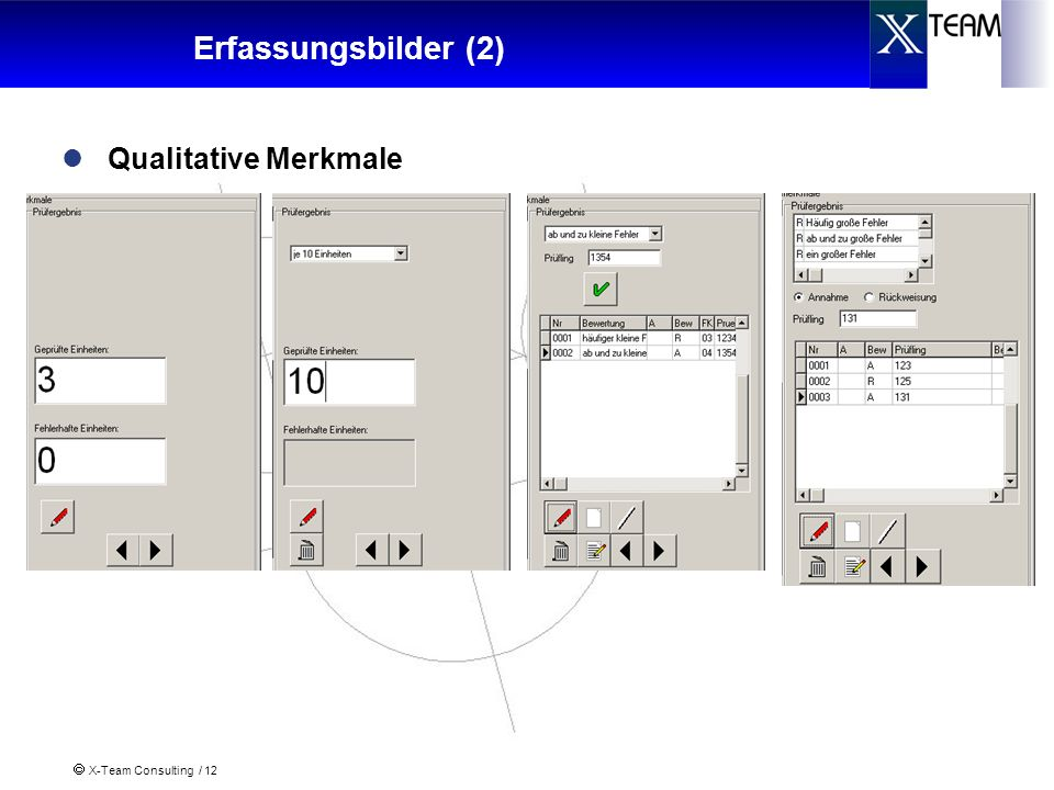 X-Team Consulting / 12 Erfassungsbilder (2) Qualitative Merkmale
